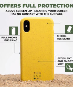 Biodegradable iPhone case - Yellow