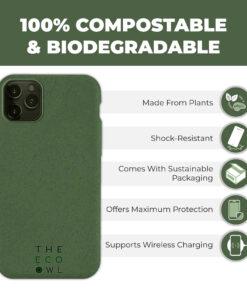 Biodegradable Vegan iPhone case - Dark Green