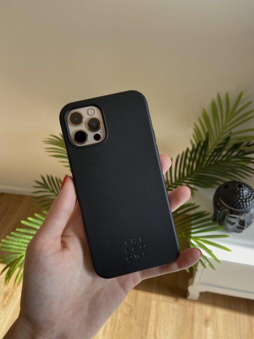 Black biodegradable iphone case eco owl